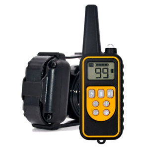 Dog Training Collars 800m Remote Rechargeable and Waterproof