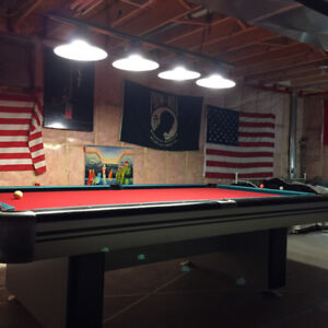 8' dufferin challenger  commercial pool table