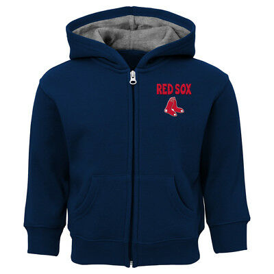 Boston Red Sox Infant 12, 18, 24 Months  Full-Zip Embroidered Hooded Sweatshirt