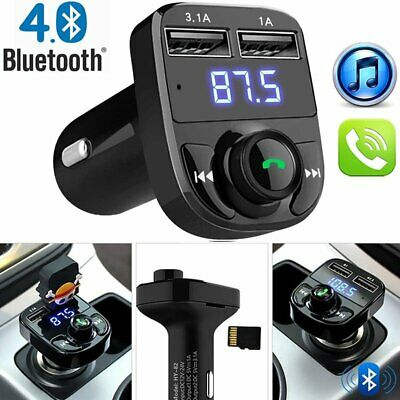 Car Cigar Plug Bluetooth FM Transmitter MP3 Player Radio Adapter USB Charger NEW