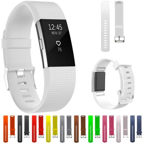 RICAMBIO SILICONE cinturini orologi morbido per Fitbit Charge 2 Fitness BELLO