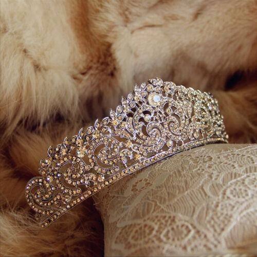 Crystal Wedding Tiara Crown Queen Bridal Hair Accessories