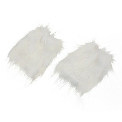 White Fluffies Fluffy Furry Leg Warmers Boots Covers Rave Furries U7M7