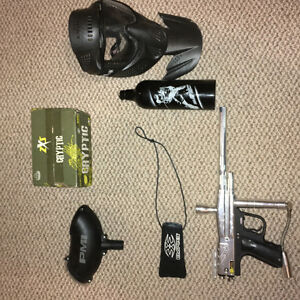 PMI Piranha Paintball Gun and Accessories