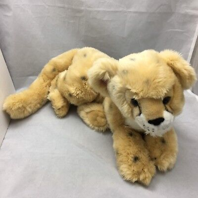 "Wildlife Artist Leopard Cub Cheetah Conservation Collection 2010 Plush 29"" Toy"