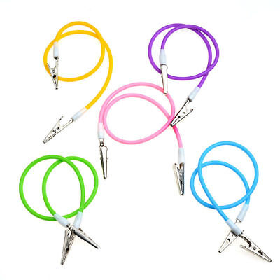 1pcs Dental Bib Clip Chain With Silicone Cord Spring Heat Resisting Colorful New