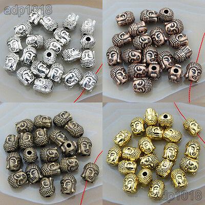 20PCS Solid Metal Buddha Head Bracele & Necklace Connector Charm Beads