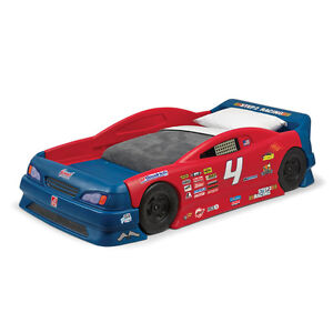 Kids stock car bed and Cars book shelf and Cars storage unit