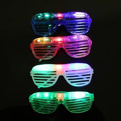 8 Pcs LED Shutter slot Glasses Light Up Shades Flashing Rave Wedding Party