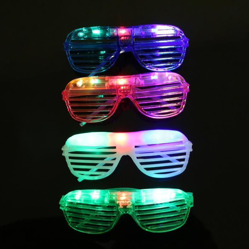 8 LED Shutter Shades Light Up Slot Glasses Shades Flashing Rave Wedding Party