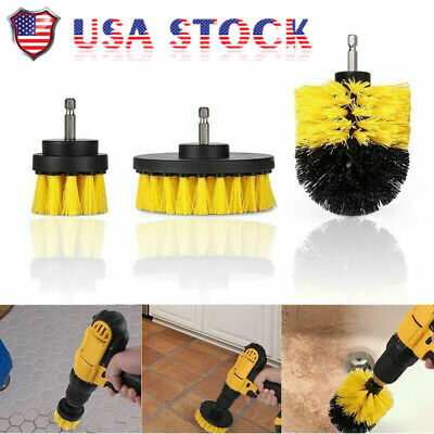3PCS Electric Bristle Drill Brush tire bath Tub Rotary Cleaning Tool Set v2s FS1 Bristle Cleaning Brush