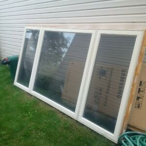 Large 3-Section Window, 9.5 ft by 57.5 inches
