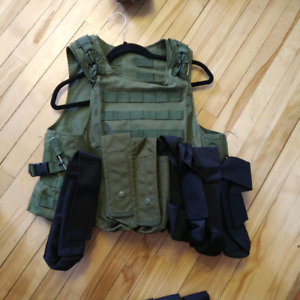 Veste molle paintball/airsoft OD green