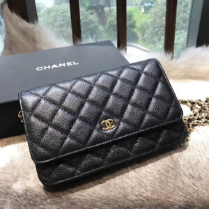 Chanel carvial leather golden chain WOC/crossbody purse, new