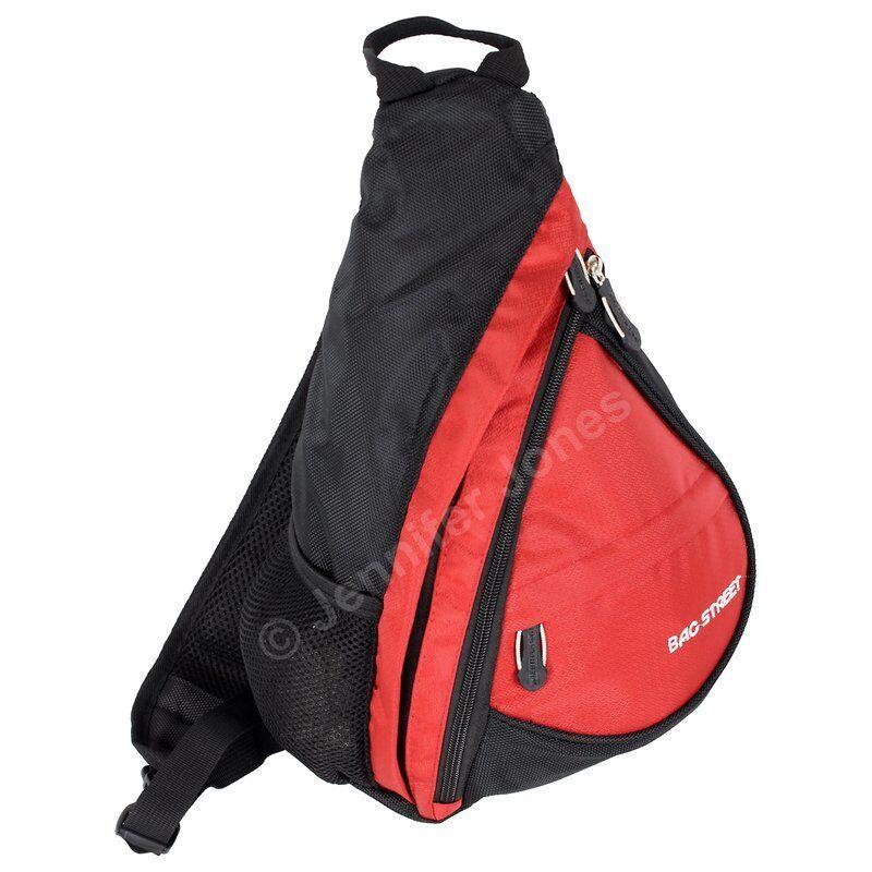 Sport Rucksack Bodybag Tasche Umhängetasche Fahrrad Crossbag Bag Street 4388 rot