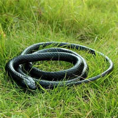 1.3M Halloween Fake Realistic Snake Scary Rubber Toy Party Gags Tricks Props