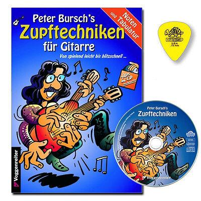 Peter Bursch's Zupftechniken für Gitarre mit CD, DUNLOP PLEKTRUM 9783802403859
