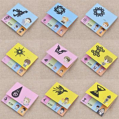 EXO Aufkleber Cartoon Lesezeichen Sticker XIUMIN D.O. BAEKHYUN SUHO SEHUN LAY Lesezeichen Sticker