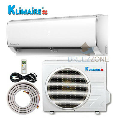 1 Ton 12,000 Inverter 16 SEER 115V Ductless Mini Split A/C Heat Pump 25ft Kit