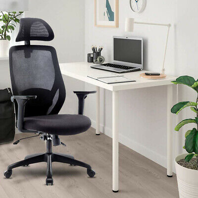 Ergonomic Mesh Office Chair Swivel Pc Executive High Back Adjustable Desk Seat
