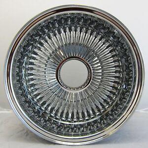 NB 13x7 REV 100 SPOKE WIRE WHEELS STRAIGHT LACE ALL CHROME RIMS  LOWRIDER X1 L