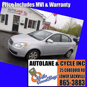 2009 Hyundai Accent Sedan Only 90000km New MVI Silver Bullet!