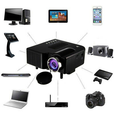 1080P Full HD Mini Projector Home Theater Cinema AV VGA USB HDMI Portative Wired