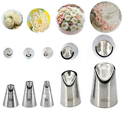 - 1/5pc Russian Nozzles Juju Stainless Steel Icing Piping Tip DIY Pastry Decorate