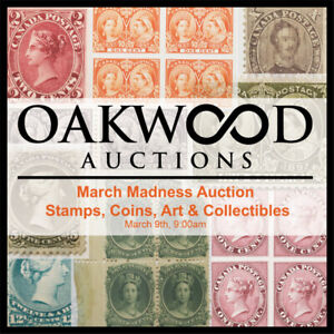 "Oakwood Auctions ""March Madness"" Stamps/Coins/Art/Collectibles"