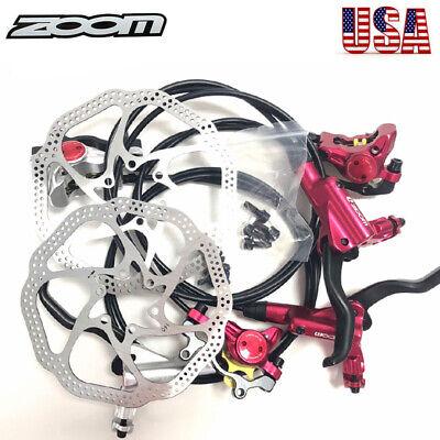 ZOOM MTB Bike Hydraulic Disc Brakes Calipers Cycling 160/180mm Disc Brake