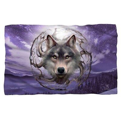 New Celestial Wolf Purple Sky 58x36 Anne Stokes Fleece Throw Gift Blanket Nature ()