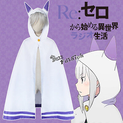 Hot Sell Anime For Re:Life in a different world from zero Emilia Cosplay Costume