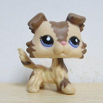 Hasbro Littlest Pet Shop LPS Figure Loose Toys #2210 Brown Collie Dog Puggy Rare