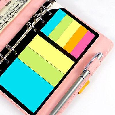 Sticky Notes Planner Schedule 6 Holes Binder Dairy Memo Divider Sticker Gifts