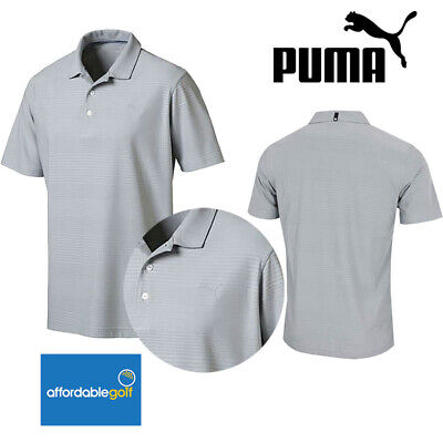 Puma Golf Mens Aston Polo Shirt Short Sleeve DryCell UPF50+ Stretch T-Shirt Top