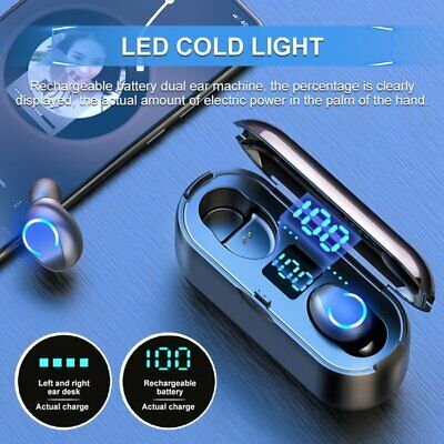 Waterproof Wireless Bluetooth 5.0 Earbuds Headphones Headset Noise Cancelling US