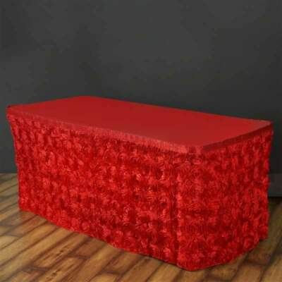 17 Feet ~NEW~ Rosette Table Skirt For Wedding Party Decor -