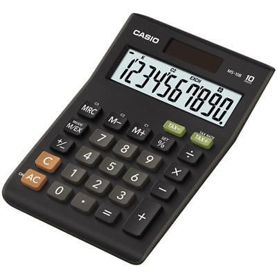 Casio MS10B Calculator 10 Digit Display Dual Powered Plastic Keys Tax Function
