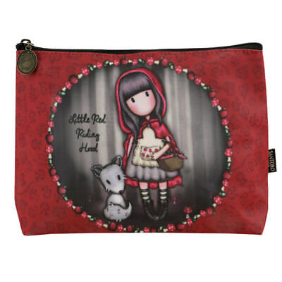 Santoro Gorjuss Little Red Riding Hood Coated Cosmetic Bag Wash Makeup Travel - Little Red Riding Hood Makeup