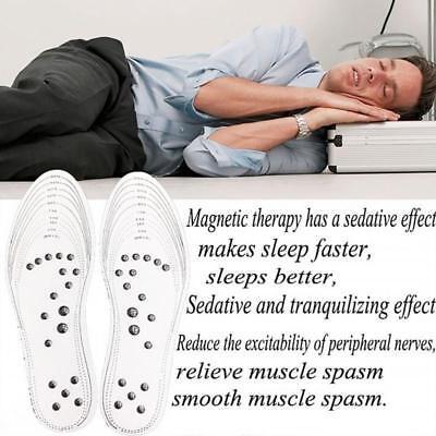 2 Paar Transparente magnetische orthopädische Einlegesohlen bequeme Massage DE ()