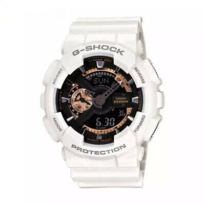 NEW G-Shock Men's Watch White-Gold Dial Resin Chronograph GA110RG-7A