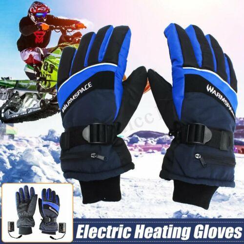 ZJM Gants Chauffants Chauffe-Main /Électrique Rechargeable Hiver Chauffage /Étanche Moufles avec 3 Temp/érature Niveau Et /Écran Tactile pour Hommes Femmes Ski Escalade Randonn/ée