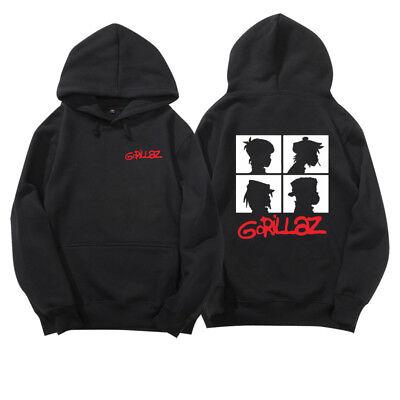 Mens Womens Gorillaz Band Silhouette Pullover Alternative Rock Hoodie Sweatshirt