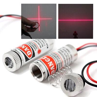 650nm 5mw Pro Red Line Cross Laser Module Laser Focus Adjustable Head 14cm
