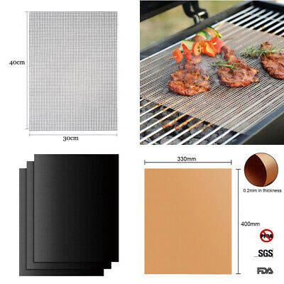 BBQ Grill Teflon Mesh Non-Stick Mat Reusable Sheet Resistant Baking Oven Liners