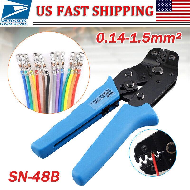 SN-48B Crimp Plier Tool 0.5-1.5mm 16-26 AWG Crimper Servo JST Molex Deutsch Pin