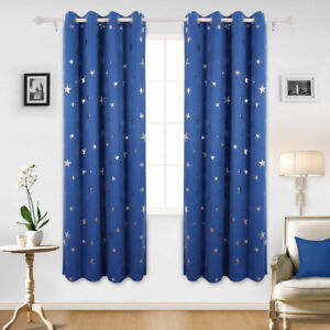 Kids Thermal Blackout Curtains 53x63 Inch - 2 Panels