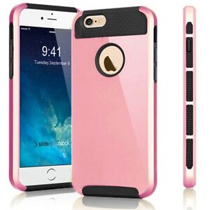 NEW ROSE GOLD HYBRID HEAVY DUTY SHOCKPROOF CASE FOR IPHONE 6, 6S