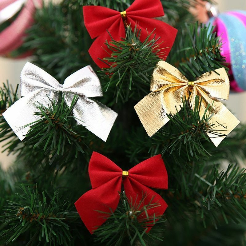 Bow Tie Christmas Tree Decorations