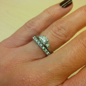 Engagement Ring/Wedding Band Set